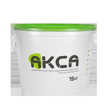АКСА однокомпонентный акрилатный герметик, 15 кг.